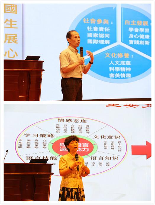 王蔷为大家讲解了中国学生发展核心素养的九大素养
